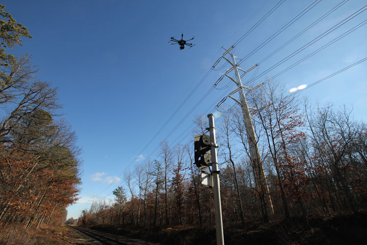 electric transmission uav aerial inspection