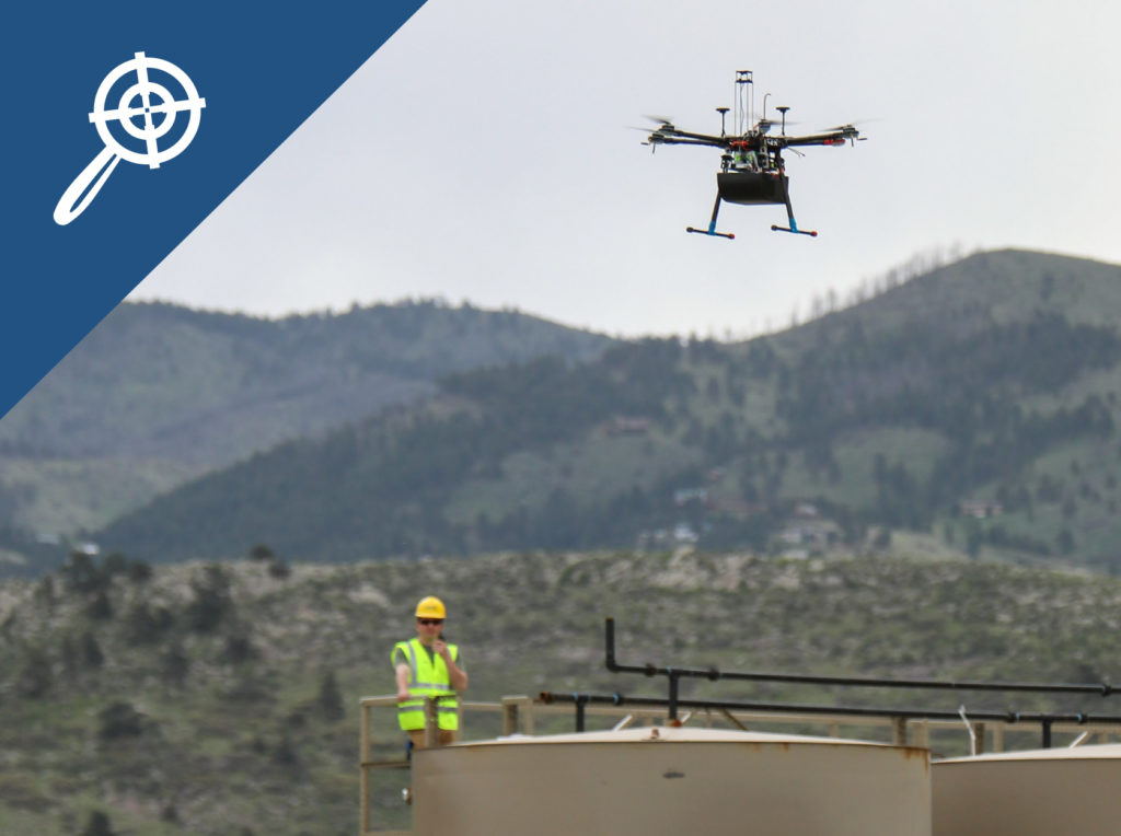 oil and gas leak detection drone