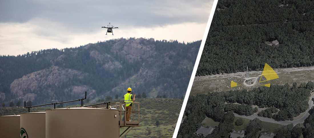 Unmanned aerial gas leak detection services