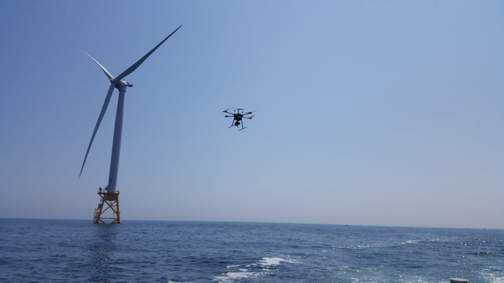 offshore wind foundation drone inspection
