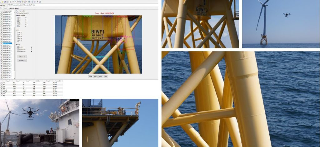 Drones and machine learning offshore wind inspection