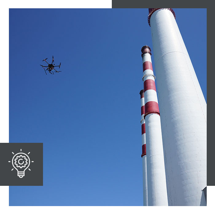 uas power plant inspection services
