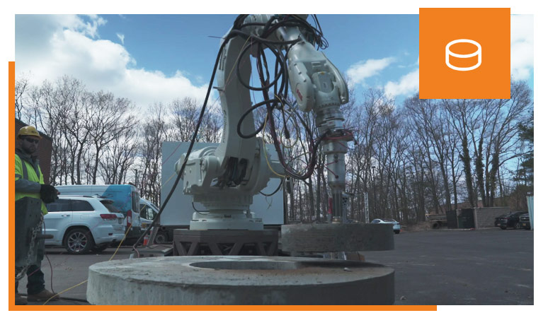 robotic core drilling and removal