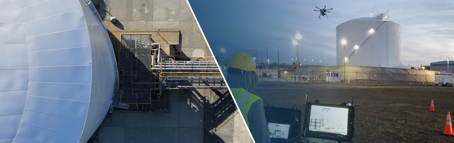 lng tank drone inspection services