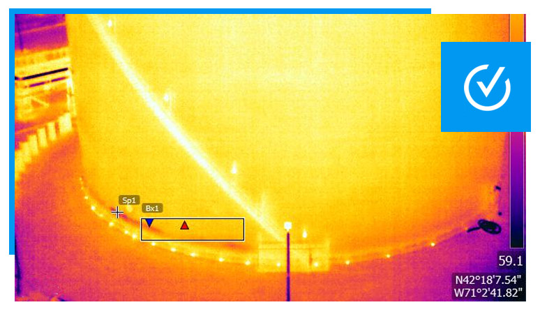 lng tank thermal drone inspection